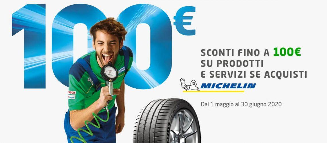 CONTE GOMME SOSTITUZIONE PNEUMATICI PROMO MICHELIN ACQUISTA 4 PNEUMATICI BUONO FINO A 100 EURO